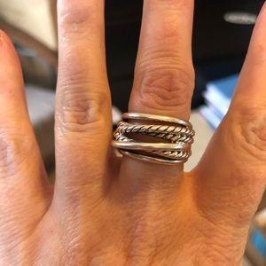 David Yurman Crossover Narrow Ring Size 6.5